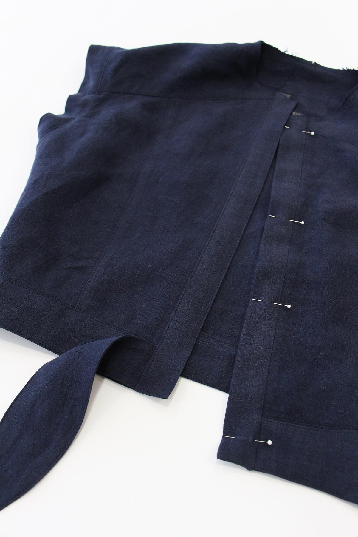 Megan Nielsen Patterns   Matilda Sewalong: Matching Set Hack   Folding Out & Top Stitching Your Top Placket