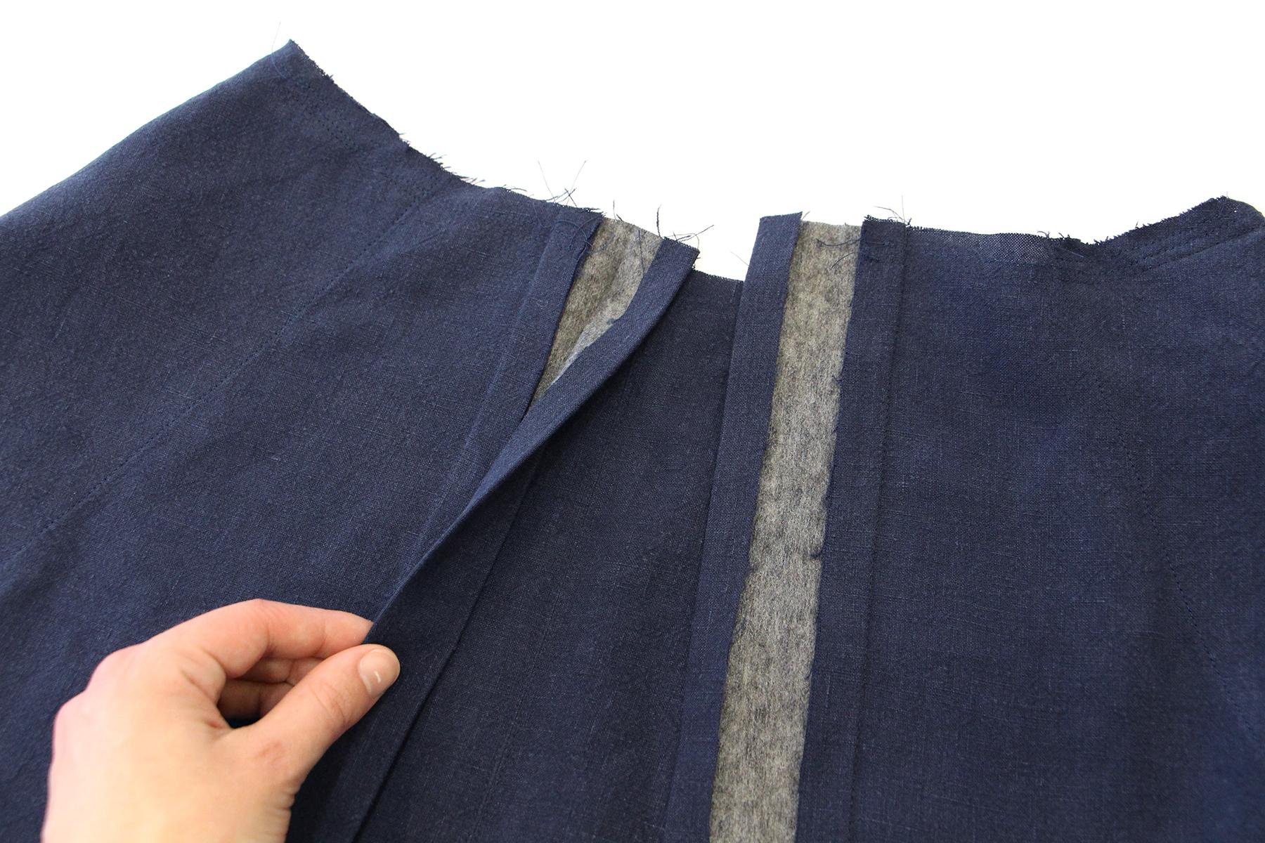 Megan Nielsen Patterns   Matilda Sewalong: Matching Set Hack   Pressing & Folding Your Skirt Placket