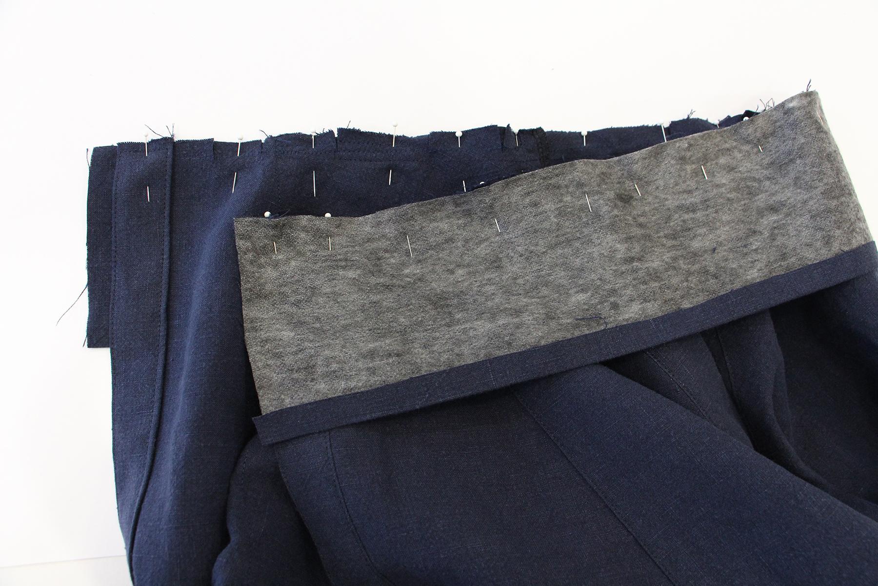 Megan Nielsen Patterns   Matilda Sewalong: Matching Set Hack   Pinning Your Skirt Waistband