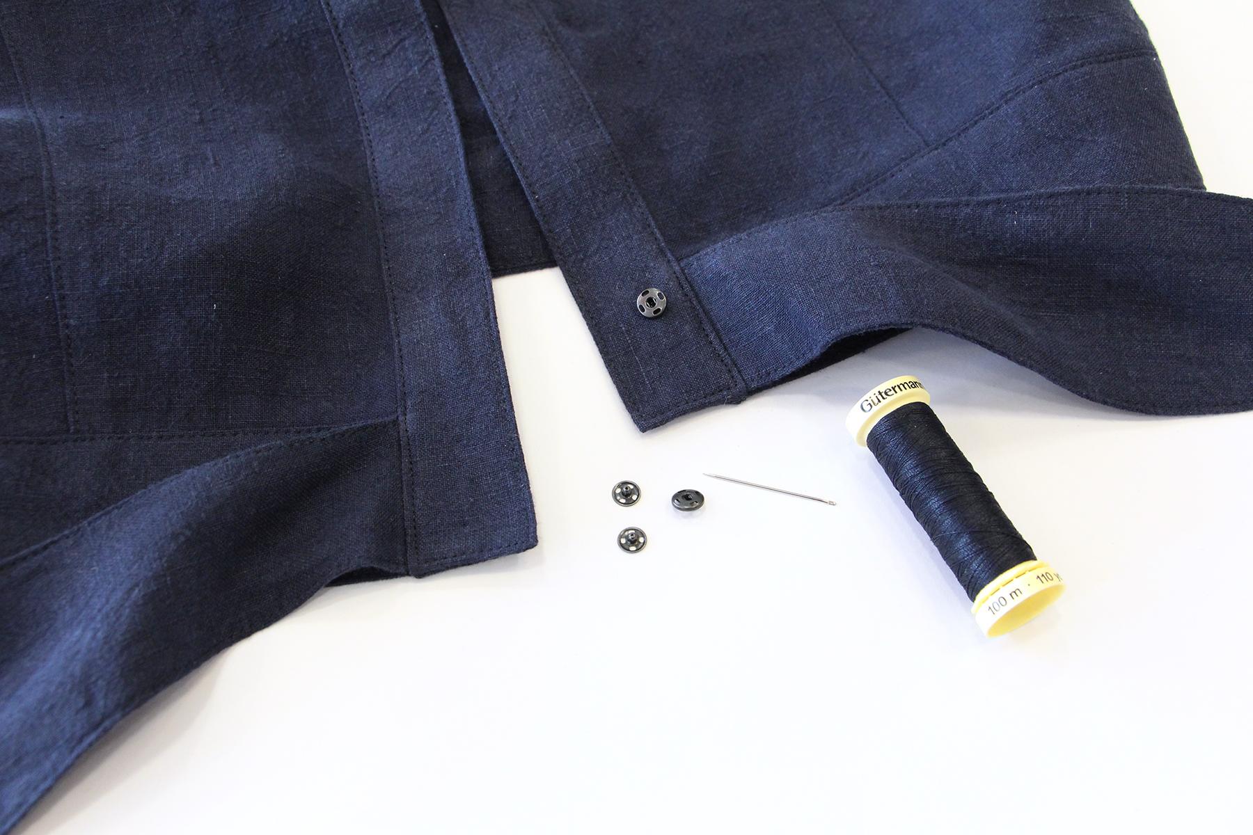 Megan Nielsen Patterns   Matilda Sewalong: Matching Set Hack   Adding Press Studs To Your Tie Top Hem