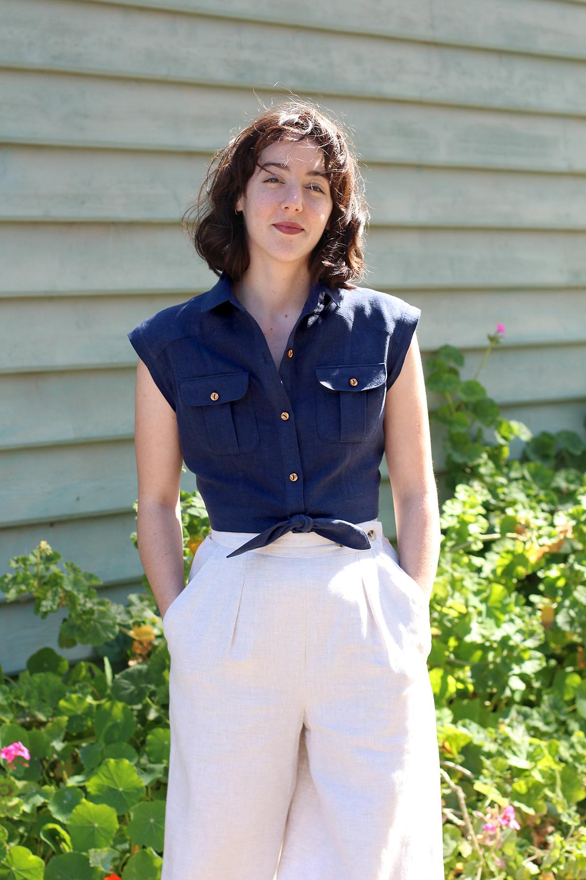 Megan Nielsen Patterns   Matilda Sewalong: Matching Set Hack   The Matilda Top & Flint Pant Combo