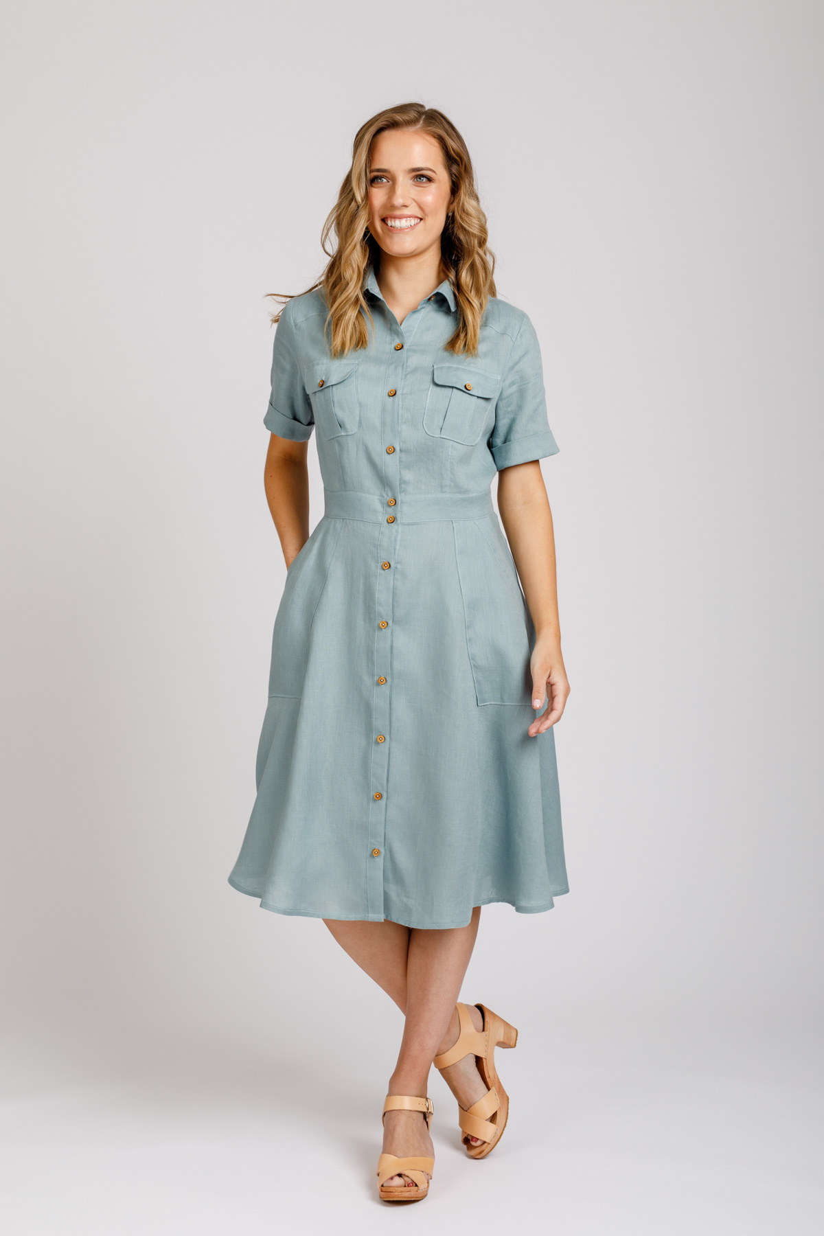 Megan Nielsen Matilda Dress View B | Sizes 0-20