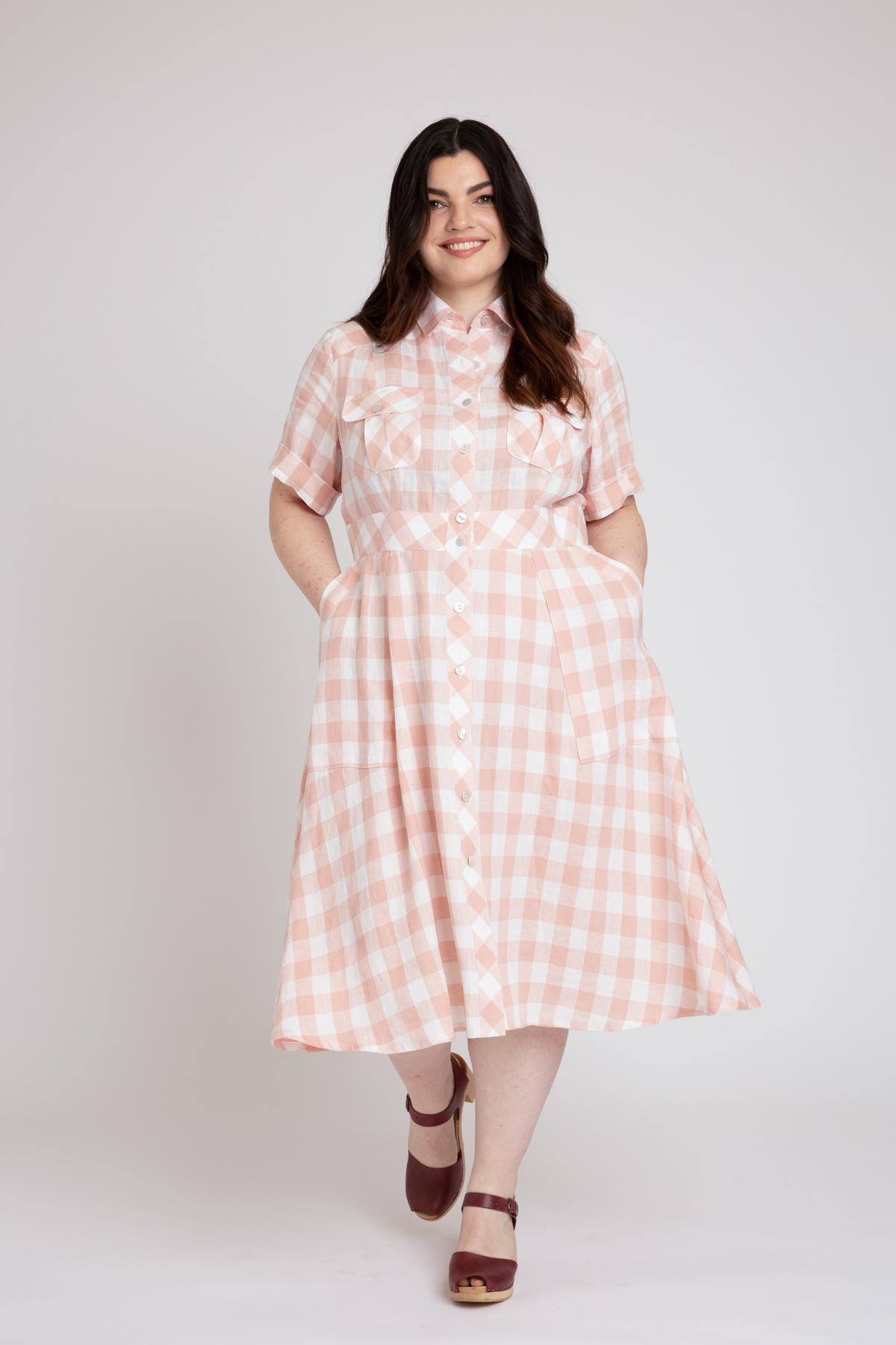 Megan Nielsen Matilda Curve Dress View B | Sizes 14-34