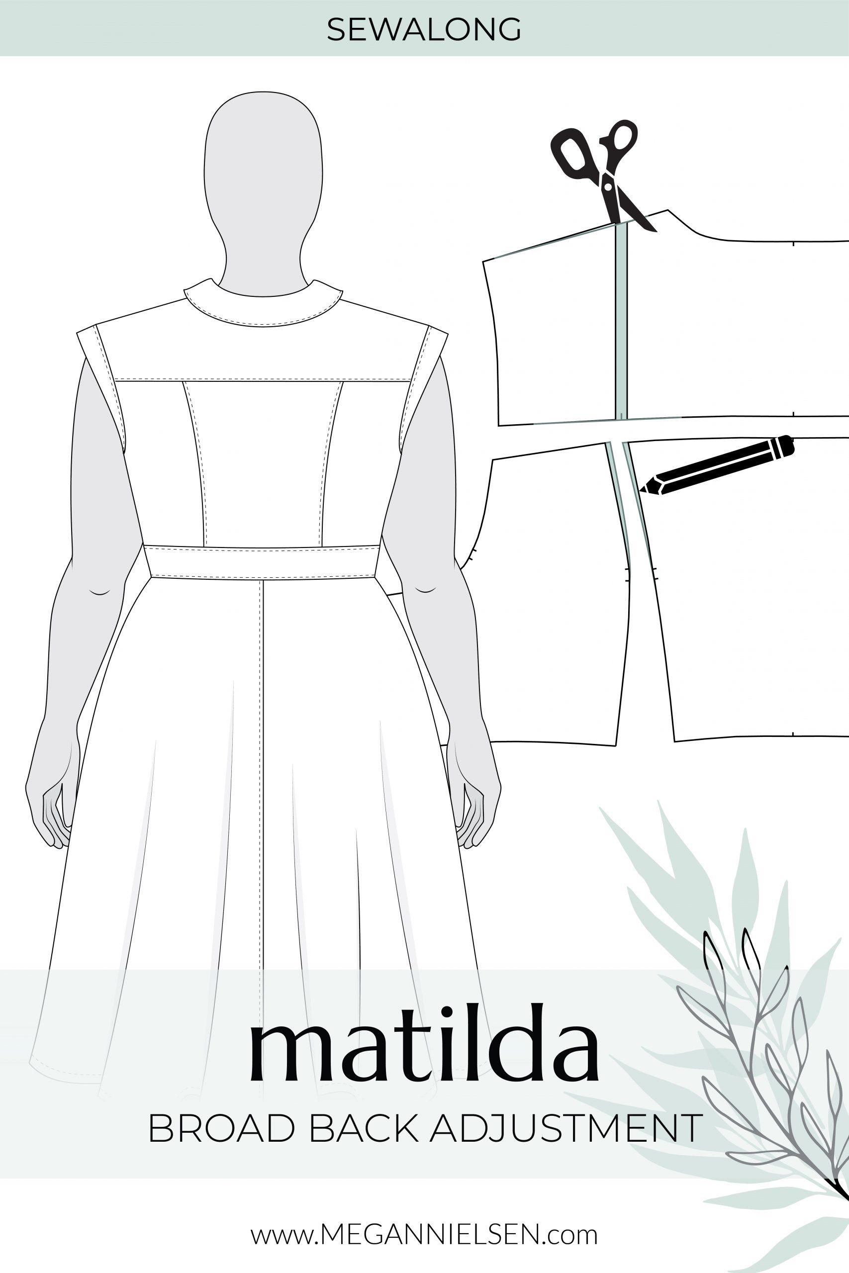 Megan Nielsen Patterns | Matilda Sewalong: Broad Back Adjustment