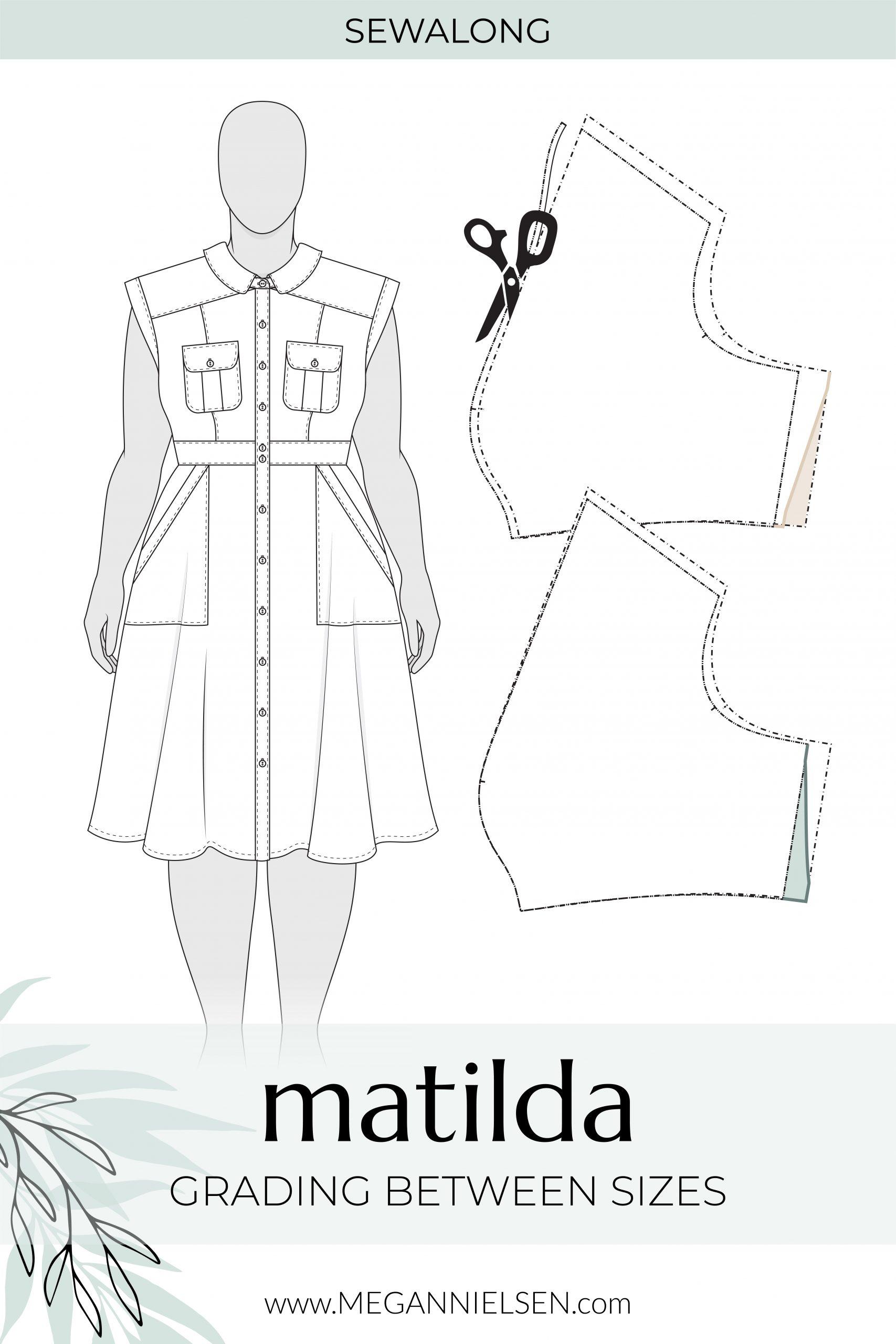 Megan Nielsen Patterns | Matilda Sewalong: Grading Between Sizes