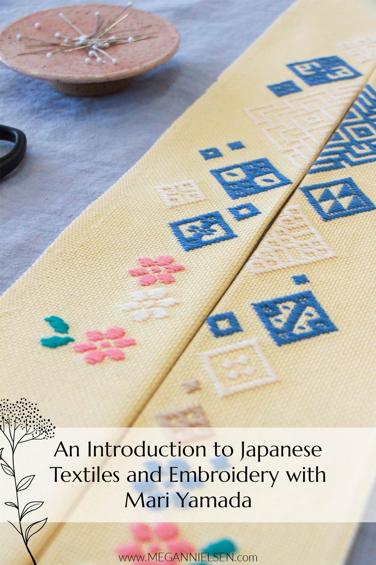 Introduction to Japanese Textiles and Embroidery with Mari Yamada