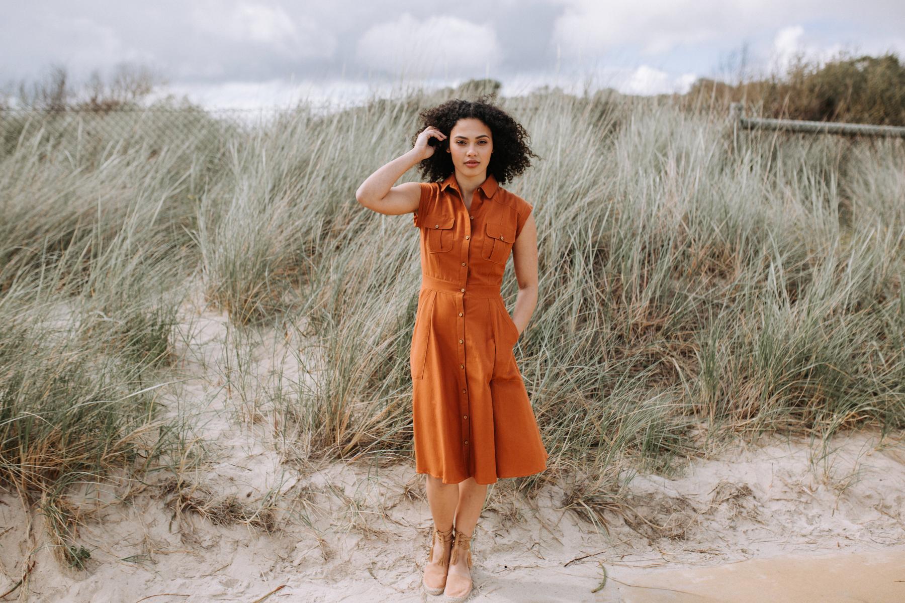 How to lengthen or shorten the Matilda dress pattern