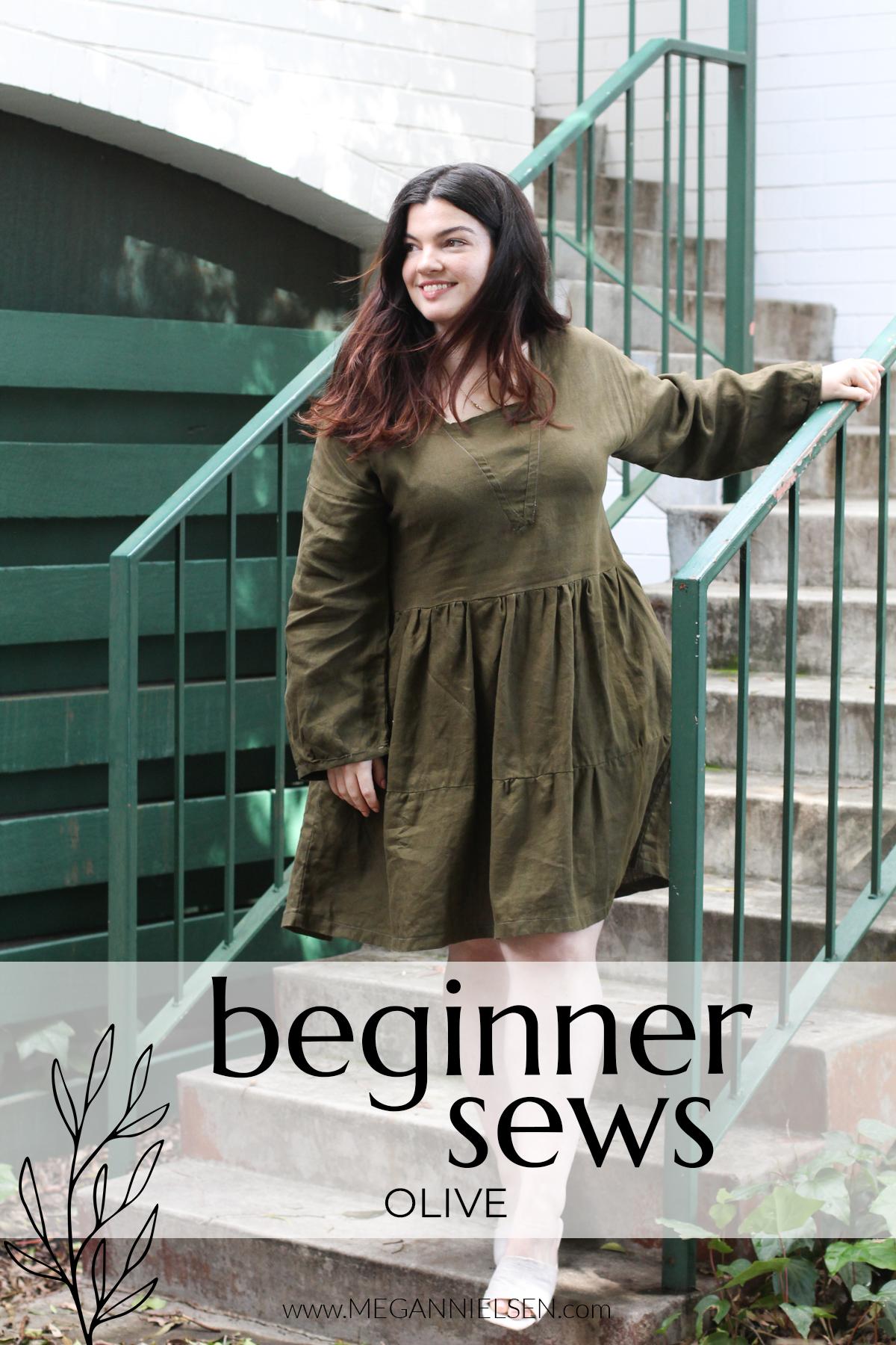 A Beginner Sews Olive on the Megan Nielsen Blog
