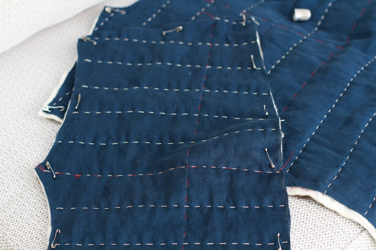 Wide Quilting Pattern | Tips for Hand Quilting the Hovea Jacket
