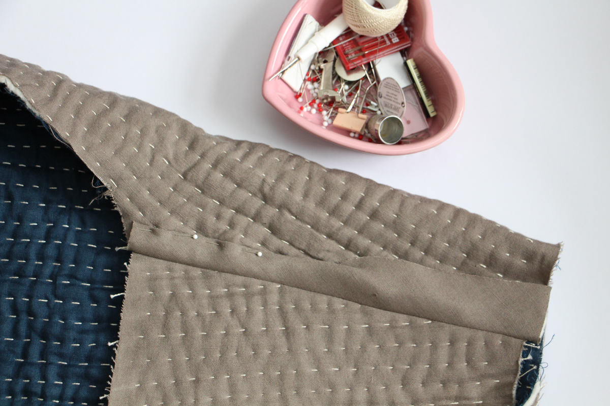 Make it Reversible | Tips for Hand Quilting the Hovea Jacket