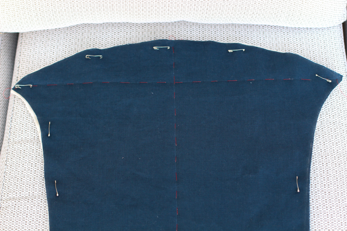 Basting quilt panels | Tips for Hand Quilting the Hovea Jacket