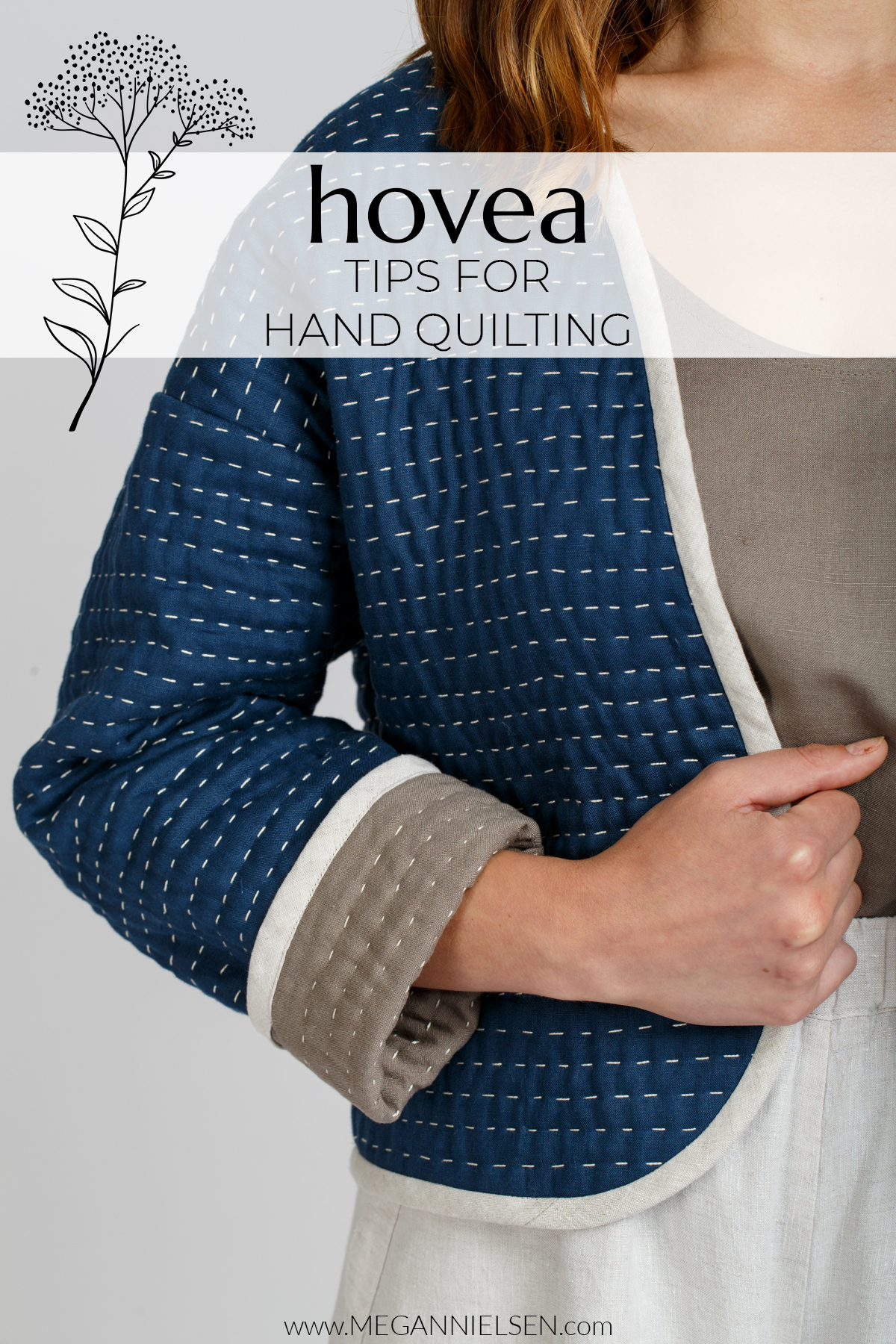 Tips for Hand Quilting the Hovea Jacket | Megan Nielsen Blog