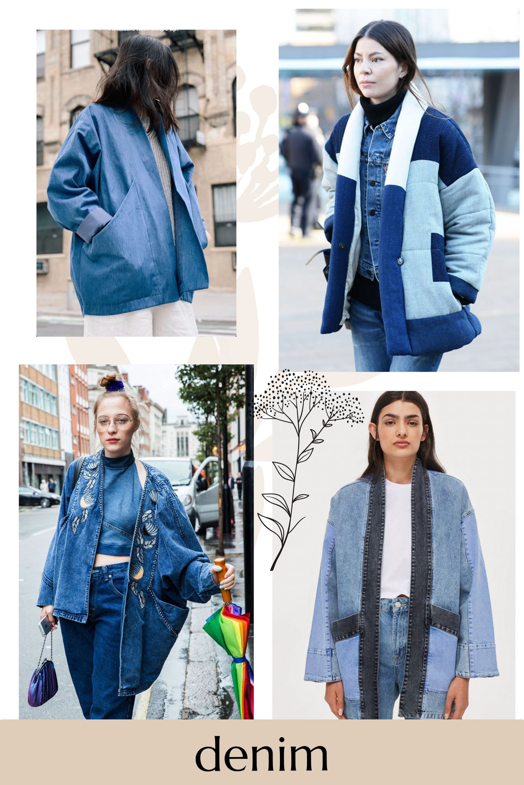 Using denim for your Hovea jacket