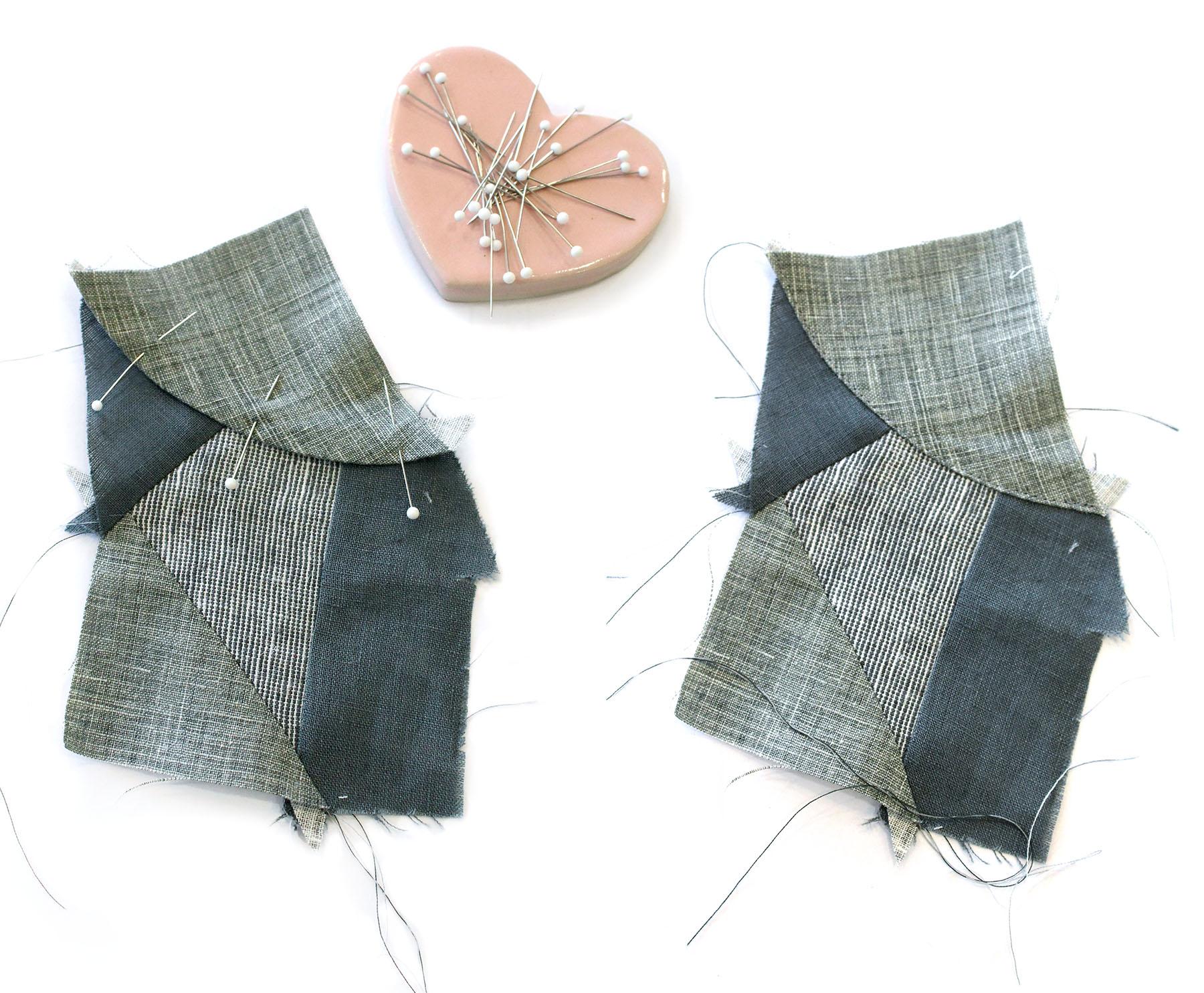 Megan Nielsen Patterns | Hovea Sewalong: Scrap Quilting | Curve Seams - Top Stitching Your Applique Piece In Place
