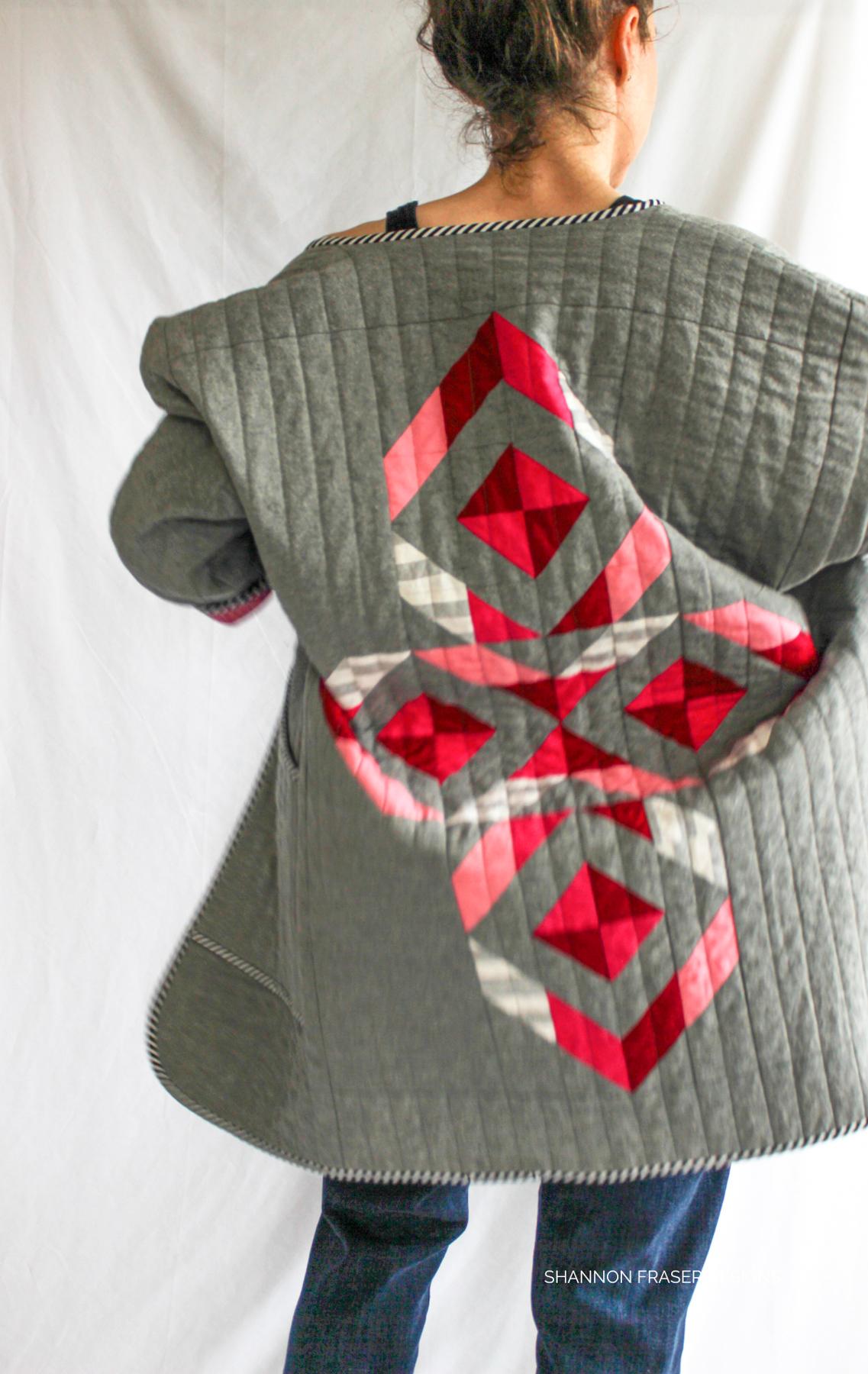 Shannon Fraser Etched Diamond quilt design | Megan Nielsen Patterns Blog