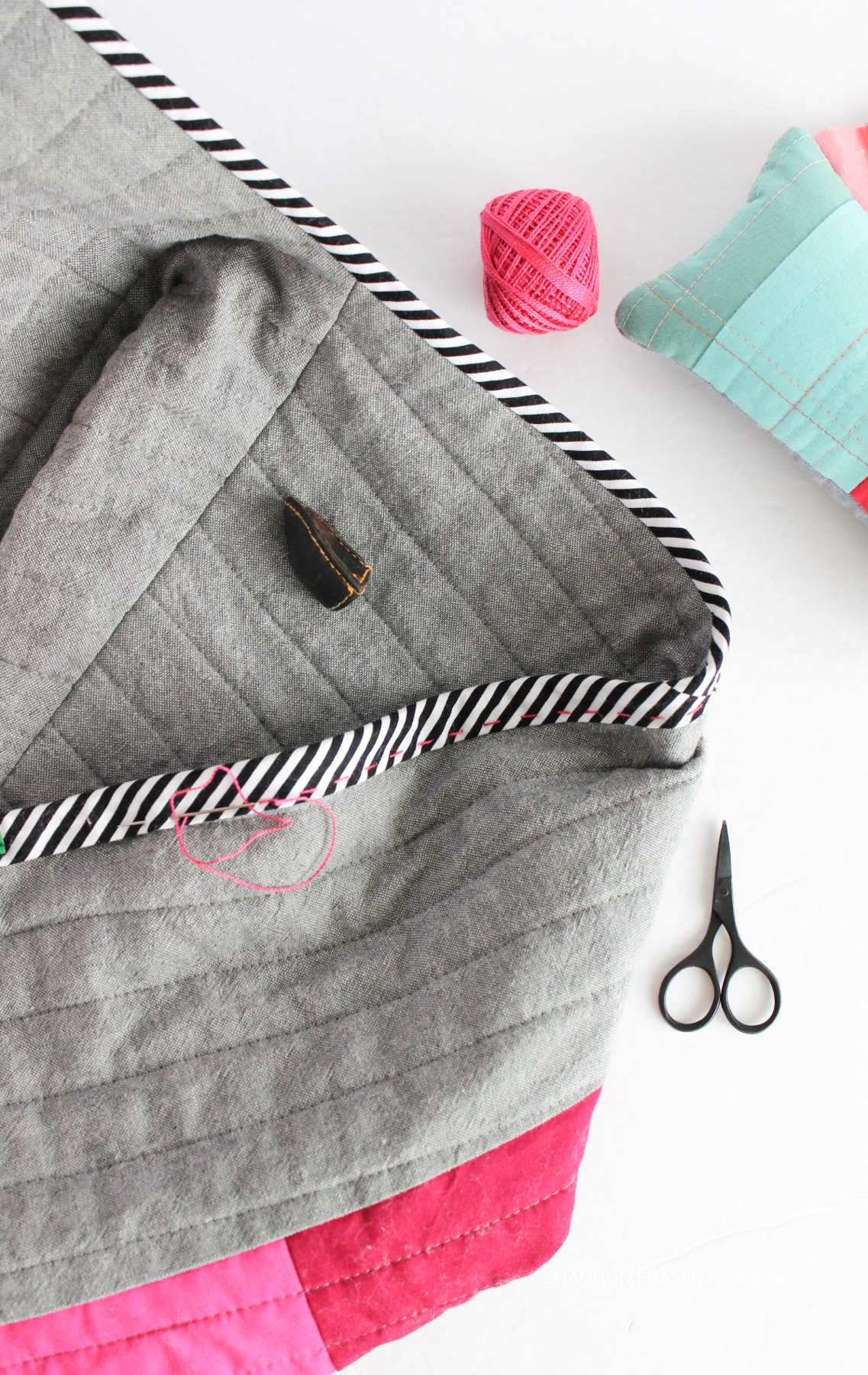 Shannons finishing touches on her Hovea coat | Top 10 tips from a modern quilter's first journey into me-made clothing with Shannon Fraser Designs | Megan Nielsen Patterns Blog