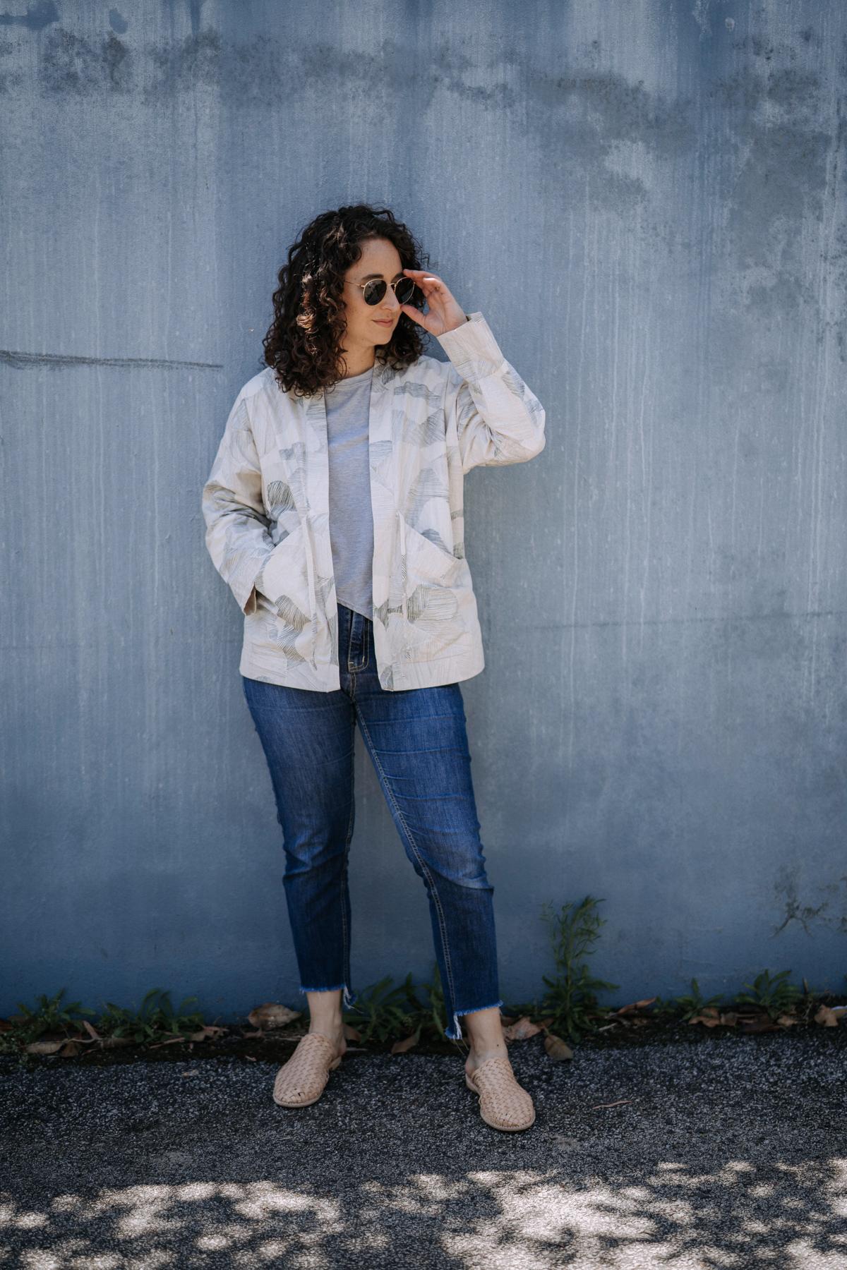 Unlined Nani Iro Hovea jacket | Megan Nielsen Blog